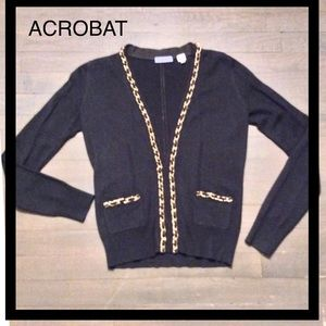 ACROBAT - Gold Chain Detailed Cardigan Sweater